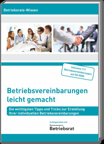 Cover Die Betriebsvereinbarungen