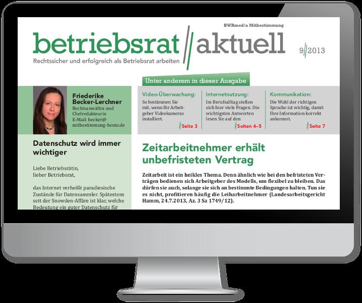 Betriebsrat aktuell online