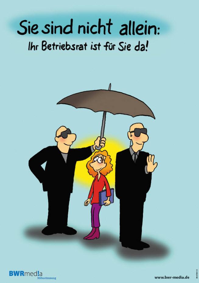 Poster: Sie sind nicht allein - Ihr Betriebsrat ist für Sie da!