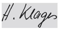 Unterschrift Heiko Klages