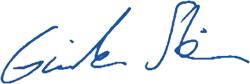 Unterschrift Günter Stein