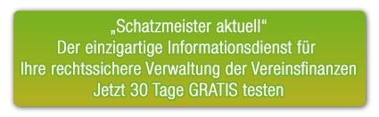 """Abgerundetes Rechteck: """"Rechtssicher handeln in Stiftung & Verein""""   Jetzt 14 Tage GRATIS testen"""