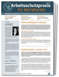 Arbeitsschutzpraxis für Betriebsräte